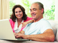 Older couple at laptop